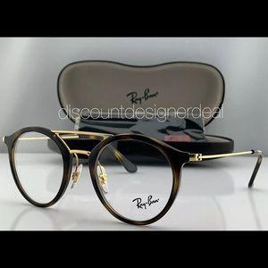 Ray-Ban Eyeglass Frames Tortoise Gold Clear Demo